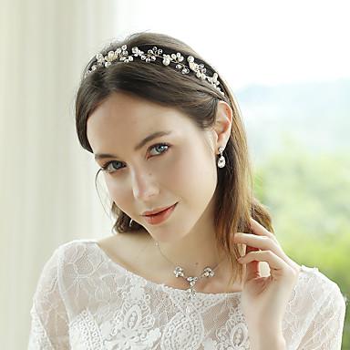סגסוגת עם פרח יחידה 1 חתונה / אירוע מיוחד כיסוי ראש