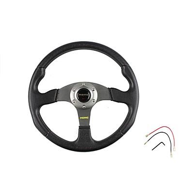 voordelige Auto-interieur accessoires-350 mm 14 inch universele sport racewagen pvc stuurwiel gemodificeerd autostuurwiel