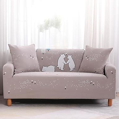הספה לכסות דוב דובי גבוה למתוח מודפס קומבינטורית רכה פוליאסטר slipcovers