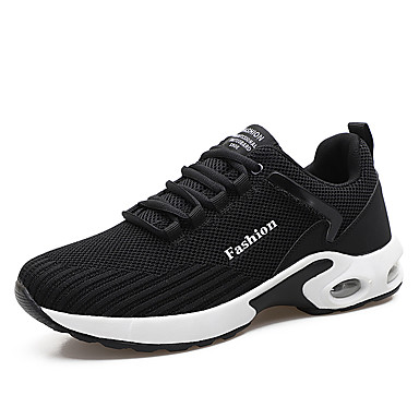 cheap Featured Deals-Men's Comfort Shoes Faux Leather Spring & Summer / Fall & Winter Sporty / Casual Athletic Shoes Running Shoes Breathable Black / Black / White