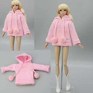 voordelige Poppenaccessoires-Pop jas Tops Voor Barbie Roze Stretchsatijn Poly / Katoen Kant Top Voor voor meisjes Speelgoedpop