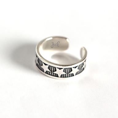 billige Motering-personlig tilpasset Ring S925 Sterling Sølv Klassisk Indgraveret Gave Love Festival 1pcs Sølv / Laser gravering