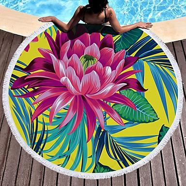 איכות מעולה מגבת חוף, פרחוני  בוטני פולי / כותנה 1 pcs