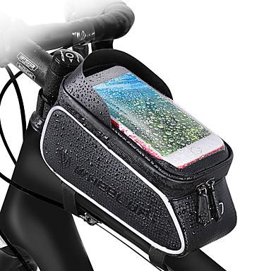 abordables Sacoches de Vélo-Wheel up Sacoche de Guidon de Vélo 6 pouce Cyclisme pour Cyclisme Autres similaires Taille Téléphones Noir Vélo tout terrain / VTT Vélo de Route Activités Extérieures