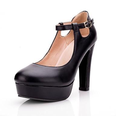 abordables Talons Femme-Femme Chaussures à Talons Talon Bottier Polyuréthane Confort Printemps Blanc / Noir / Rose / Quotidien / EU41