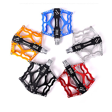 cheap Bike Parts & Components-Acacia Mountain Bike Pedals Flat & Platform Pedals Sealed Bearing Lightweight Anti-Slip Aluminium Alloy for Cycling Bicycle Road Bike Mountain Bike MTB BMX Red
