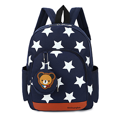 cheap Kids' Bags-Boys' / Girls' Pattern / Print School Bag Polyester / Nylon Animal Red / Dark Blue / Royal Blue / Fall & Winter