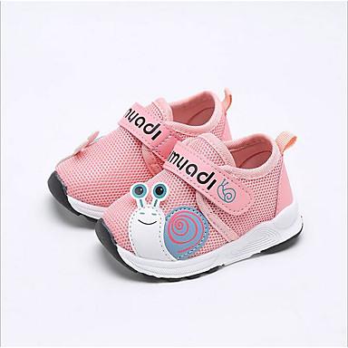 voordelige Babyschoenentjes-Jongens / Meisjes Eerste schoentjes Netstof Sneakers Baby Grijs / Blauw / Roze Zomer