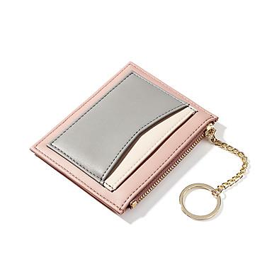 baratos Super Ofertas-Mulheres Ziper / Corrente PU Porta Moedas Estampa Colorida Rosa / Laranja / Azul Real