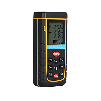 voordelige Test-, meet- & inspectieapparatuur-rz a100 draagbare laserafstandsmeter 0,05 tot 100 m met meting van de nauwkeurigheid van het bellenniveau