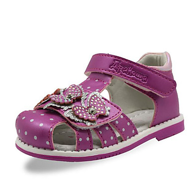 voordelige Babyschoenentjes-Meisjes Comfortabel / Eerste schoentjes PU Sandalen Paars / Perzik / Roze Zomer
