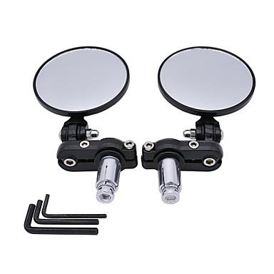 povoljno Rear View Monitor-2pcs motocikl kružni sklopivi retrovizor postavljen strani konveksno ogledalo