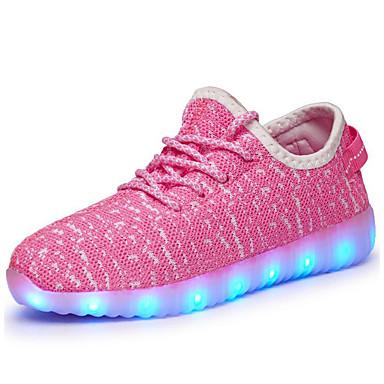 저렴한 특별 기획가-남아 튤 운동화 어린 아이들 (4-7ys) / 빅 키즈 (7 년 +) 야광 신발 워킹화 LED 블루 / 그린 / 핑크 가을 / 고무 / EU37