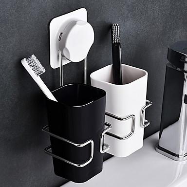 מחזיק למברשת שיניים יצירתי / אוטומטי עכשווי חומר מיוחד 3pcs מותקן על הקיר