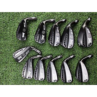 סט של9כיסויים למחבטי גולף מברזל מחבטי גולף סטים לגולף מברזל גולף פעילות חוץ פלדת אל חלד + פלסטיק גולף יום יומי ספורט שחור שחור + כסף כסף