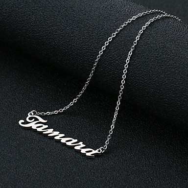 cheap Customized Jewelry-Personalized Classic Necklace Trendy Romantic Casual / Sporty Titanium Steel Gift Promise Festival Round 1pcs Gold Silver Rose Gold