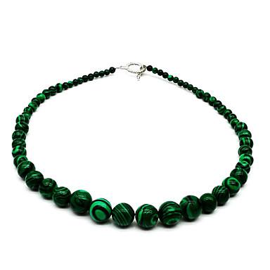 abordables Collares-Mujer Collar de cuentas Romántico Piedra Verde pavo real 45 cm Gargantillas Joyas 1pc Para Calle Discoteca Festival
