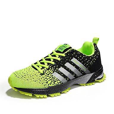 בגדי ריקוד גברים אור סוליות PU / בד גמיש אביב קיץ ספורטיבי נעלי אתלטיקה נושם שחור ולבן / שחור אדום / שחור / ירוק