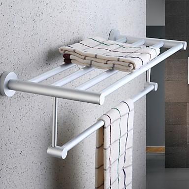 מתלה מגבת יצירתי / רב שימושי עכשווי אלומיניום 1pc מותקן על הקיר