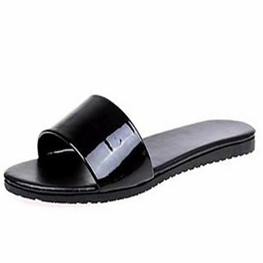 voordelige Damespantoffels & slippers-Dames / Unisex Slippers & Flip-Flops Platte hak PU Zomer Goud / Zwart / Zilver
