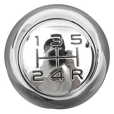 voordelige Auto-interieur accessoires-5-traps verchroomde versnellingspookknop voor peugeot 106 206 207 306 307 407 408 508