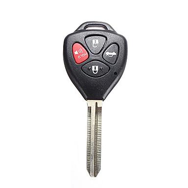 voordelige Auto-interieur accessoires-Sleutelbehuizing met 4 knoppen voor Toyota Carola FE 2008-2012 ongesneden mes