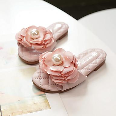 8970972117075 Fille Microfibre Chaussons & Tongs Enfants / Adolescent Confort / Chaussures  de Demoiselle d'Honneur Fille Noeud Rose dragée clair / Ivoire Printemps /  Eté ...