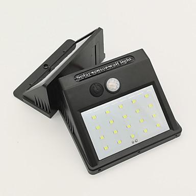 abordables Éclairage Extérieur-1pc 4 W Lampe murale solaire Imperméable / Solaire / Capteur infrarouge Blanc Froid 3.7 V Eclairage Extérieur / Cour / Jardin 20 Perles LED