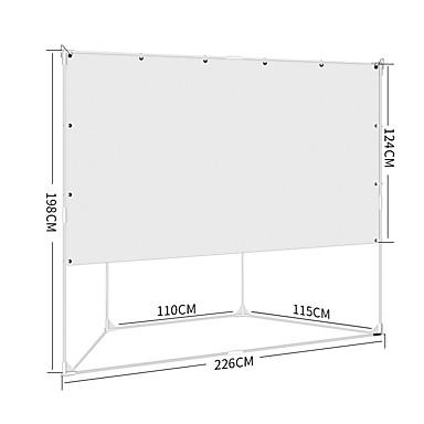 povoljno Oprema za projektore-16:9 100 inch PVC MaxWhite Podno platno na izvlačenje