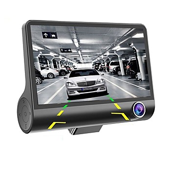 billige Bil DVR-4 '' 1080p 3 linse bil DVR dash cam 170 køretøj videobåndoptager rearview kamera
