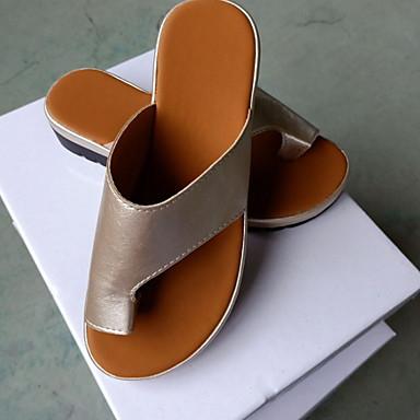 Kadın's Sandaletler Creepers Burnu Açık PU Yaz Beyaz / Mor / Gümüş