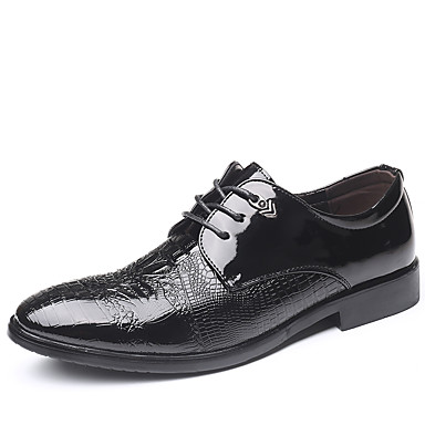 Erkek Ayakkabı PU Sonbahar Kış Klasik / İngiliz Oxford Modeli Parti ve Gece / Ofis ve Kariyer için Siyah
