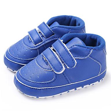 baratos Para Crianças de 0-9 Meses-Para Meninos / Para Meninas Couro Ecológico Tênis Crianças (0-9m) / Criança (9m-4ys) Primeiros Passos Preto / Azul Claro / Branco Primavera / Outono