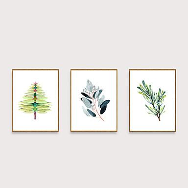 Çerçeveli Sanat Baskısı Çerçeve Seti - Natürmort Çiçek / Botanik Polisitren Çizim Duvar Sanatı