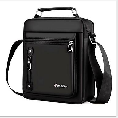 cheap Men's Bags-Men's Zipper Oxford Cloth Briefcase Solid Color Black / Brown