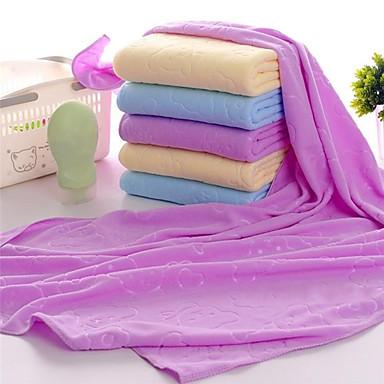 billige Håndklær og morgenkåper-Overlegen kvalitet Badehåndkle, Ensfarget / Tegneserie / Mote Polyester / Bomull / 100% Mikro Fiber Baderom 1 pcs
