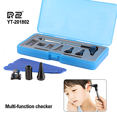 cheap Testers & Detectors-RZ Otoscope Ophthalmoscope Stomatoscop Set Health Care Ear Eye Throat Medical Equipments Diagnostic Penlight Otoscope Kits