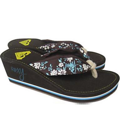 voordelige Damespantoffels & slippers-Dames Slippers & Flip-Flops Comfort schoenen Sleehak EVA Zomer Koffie / Rood / Groen