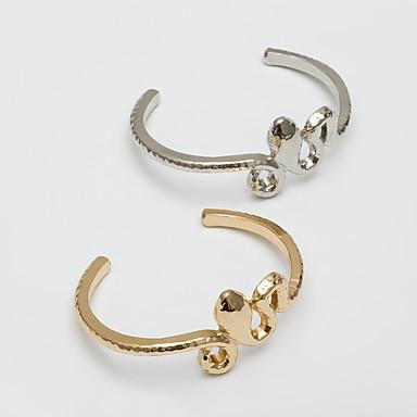 abordables Bracelet-Bracelet Jonc Bracelet Femme Rétro Serpent simple Bracelet Bijoux Dorée Argent pour Cadeau Quotidien Ecole Vacances Travail