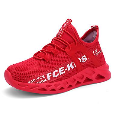 povoljno Cipele za djevojčice-Djevojčice Flyknit Atletičarke tenisice Mala djeca (4-7s) / Velika djeca (7 godina +) Udobne cipele Hodanje Crno Zlato / Crvena / Crno-bijeli Ljeto