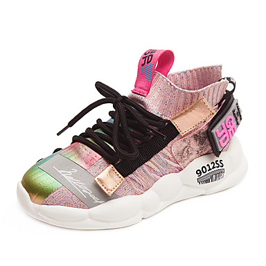 povoljno Cipele za djevojčice-Djevojčice Mrežica Atletičarke tenisice Mala djeca (4-7s) / Velika djeca (7 godina +) Udobne cipele Hodanje Obala / Crn / Pink Proljeće / Jesen