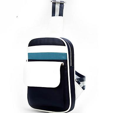 Недорогие Функциональные сумки-Универсальные Молнии Слинг сумки на ремне Нейлон Сплошной цвет Черный