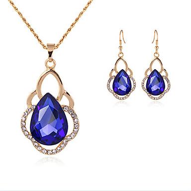 voordelige Dames Sieraden-Dames Synthetische Aquamarijn Bruidssieradensets Klassiek Drop Stijlvol oorbellen Sieraden Blauw Voor Feest Dagelijks 1 set