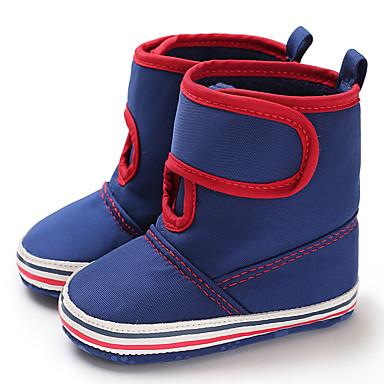 baratos Para Crianças de 0-9 Meses-Para Meninos / Para Meninas Lona Botas Crianças (0-9m) / Criança (9m-4ys) Primeiros Passos Azul Escuro / Azul Claro / Castanho Claro Inverno