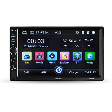 Hevxm 7010plus 7-дюймовый 2-дюймовый автомобильный MP5-плеер с сенсорным экраном / встроенный Bluetooth / радио для универсальной поддержки Bluetooth RM / RMVB / MP4 MP3 / WAV / OGG JPG