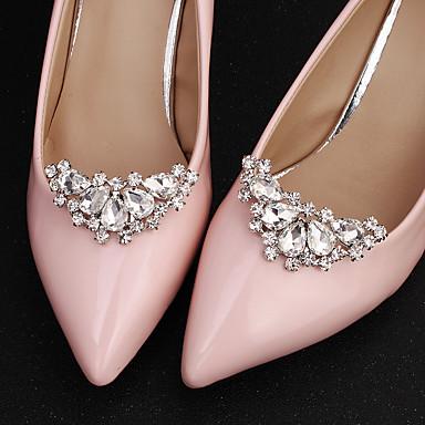 abordables Accessoires pour Chaussures-1 Pièce Strass Ornement Femme Toutes les Saisons Mariage Argent