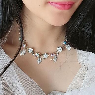 billige Halskjeder-Dame Hvit Halskjede Blomst Chrome Hvit 40 cm Halskjeder Smykker 1pc Til Daglig