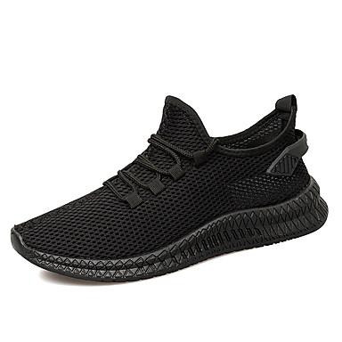 Erkek Ayakkabı Örümcek Ağı Yaz / Sonbahar Sportif / Günlük Atletik Ayakkabılar Koşu / Yürüyüş Atletik / Günlük için Siyah / Bej