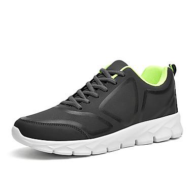 Erkek Ayakkabı PU Sonbahar Sportif Atletik Ayakkabılar Koşu Atletik için Siyah / Gri / Zıt Renkli