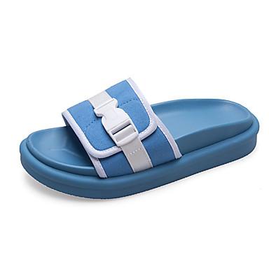 voordelige Damespantoffels & slippers-Dames Slippers & Flip-Flops Lage hak PU Informeel Zomer Oranje / Geel / Blauw
